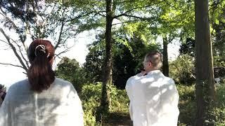 カナサナ神社、御神体山山頂にてご奉納(龍笛、石笛、遊琴)矢加部幸彦