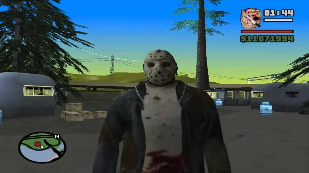 GTA San Andreas Jason Vorhees Skin V10 Monster Truck
