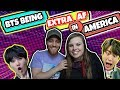 bts being extra af in america reaction