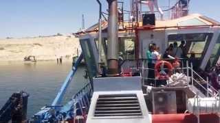 الصجفيون فى جولة بحرية قبل مؤتمر رئيس غرفة الملاحة البحرية العالمية  فى قناة السويس الجديدة 29يوليو2