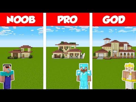 Minecraft NOOB Vs PRO Vs GOD: ITALIAN HOUSE BUILD CHALLENGE In Minecraft / Animation
