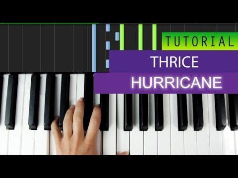Thrice Hurricane Piano Cover Tutorial Youtube