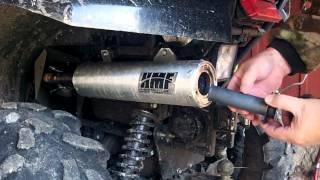 Brute Force 750 2012.  HMF slipon quiet cord and optimizer
