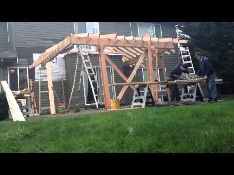 Patio Roof Addition (Time Lapse)