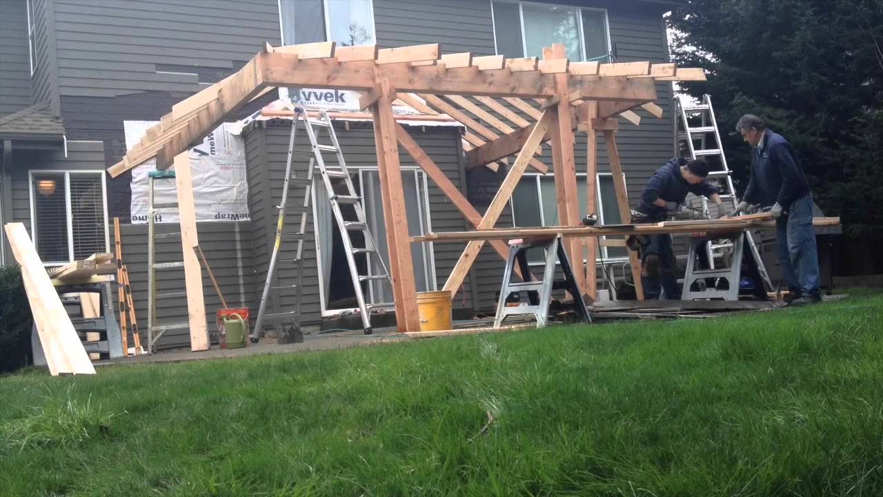 Patio Roof Addition (Time Lapse)   YouTube