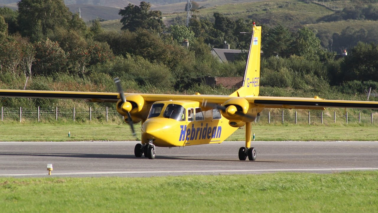 Hebridean Air Britten Norman BN2 Islander G-HEBO at Oban Airport