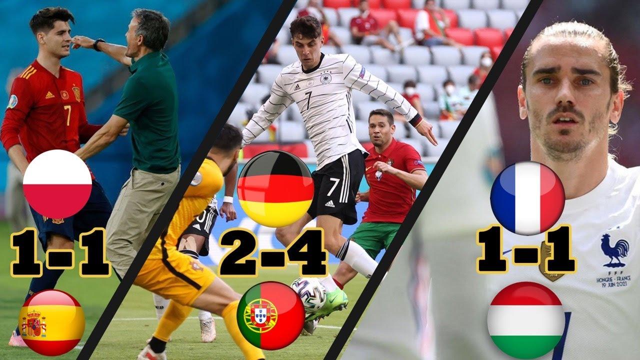 Doucouré Griezmann sauve la France; Dembele blessé; Allemagne-Portugal (4-2); L'espagne coince (1-1)