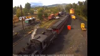 9/9/2018 Seven car train 215 arrives in Chama, NM