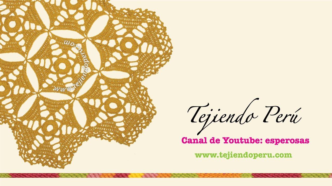 Centro de mesa con hexágonos tejidos a crochet - YouTube