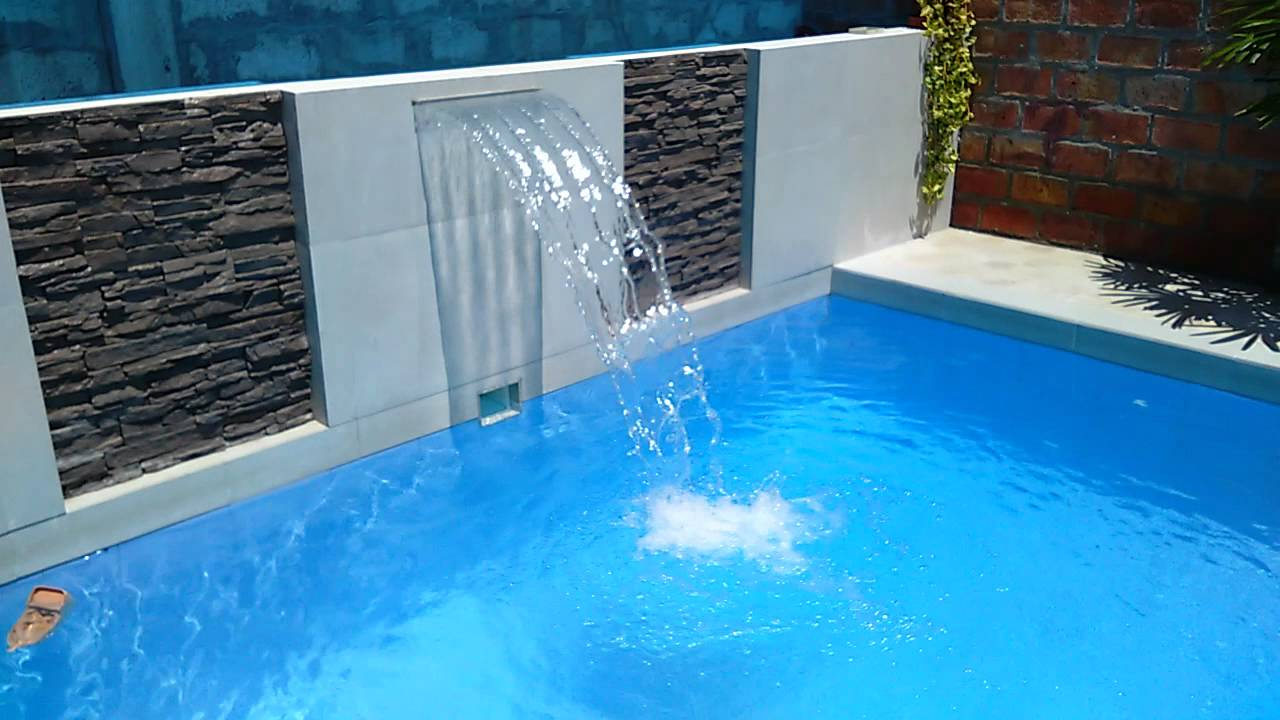 Cascadas para piscina youtube for Como construir una pileta de agua
