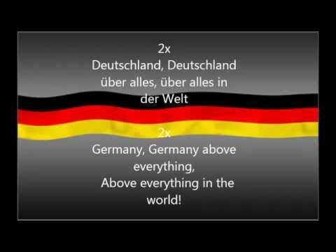Komplette deutsche Hymne german anthem lyrics (Ger/Eng)