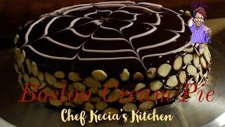 Crime Scene Kitchen Inspired Boston Cream Pie