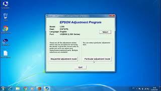 Reset EPSON Almofada Luz Piscando - L110-L210-L300-L350-L355 - (solução)