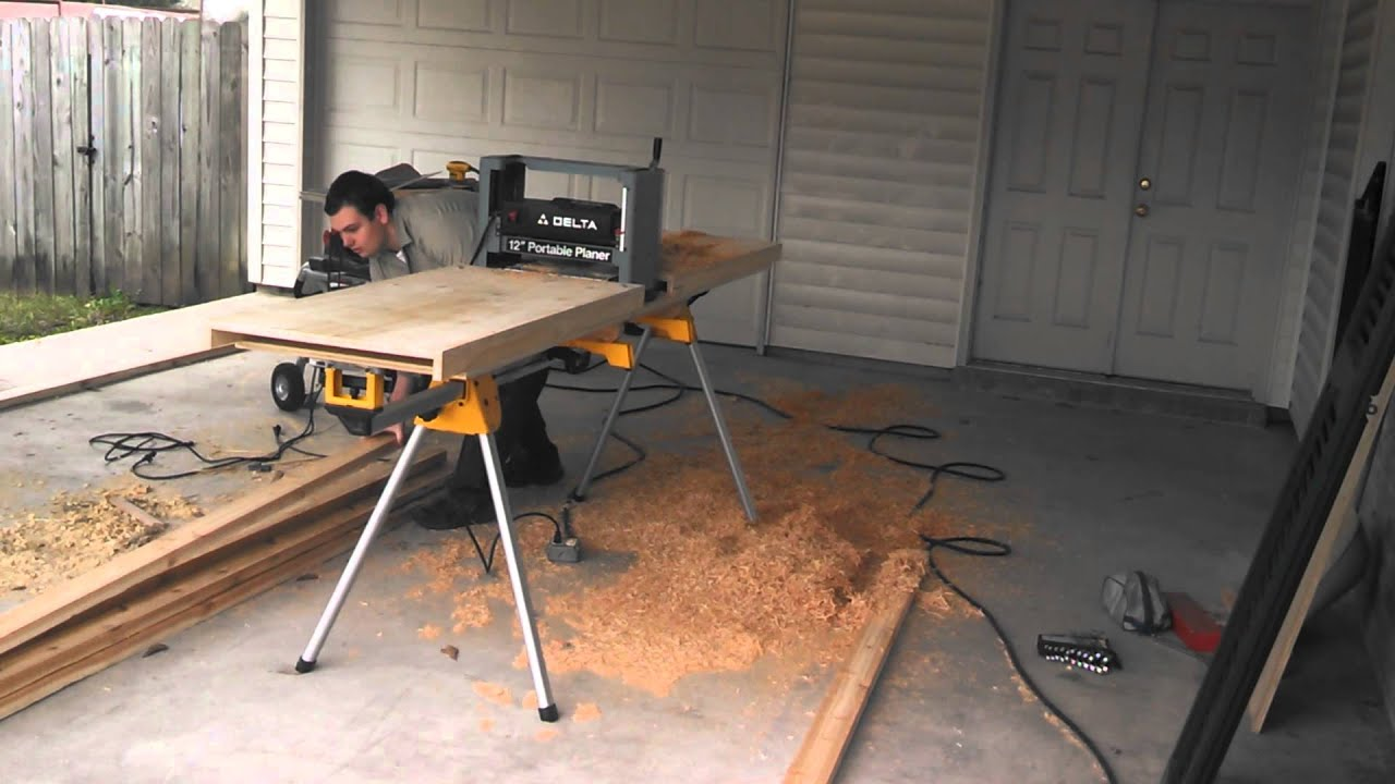 Planer Table On Dewalt Universal Stand Youtube