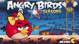 Angry Birds Seasons: NBA HAM Dunk 4-3 Walkthrough 3 Star