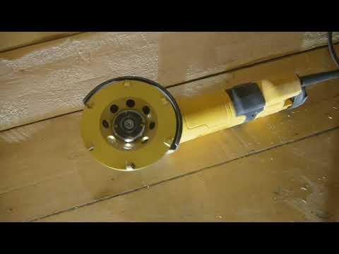 Как удалить краску и лак с деревянного пола алмазной фрезой.Preparing Old Floors For Sanding.