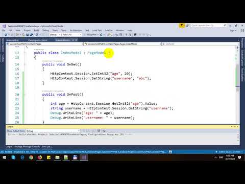 Session in ASP NET Core Razor Pages - YouTube