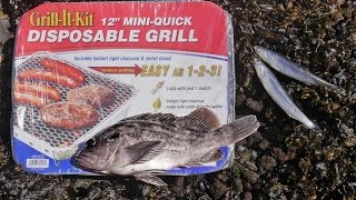 DIY Portable Grill.  Cook anything, anywhere with this.  CATCH AND COOK!