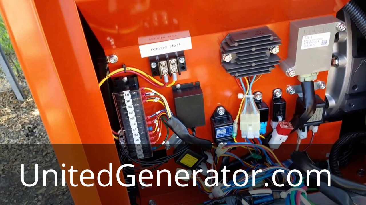 Auto Start For Diesel Generators Featuring A Kubota Generator Wiring Diagram Autostart Remote Starter