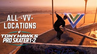 "TONY HAWK'S PRO SKATER 1 + 2: All ""VV"" Logo Locations + Rewards!"