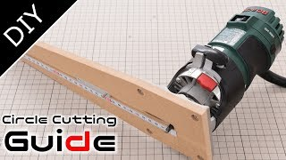 How to make a Circle Cutting Jig for Your Router【DIY】