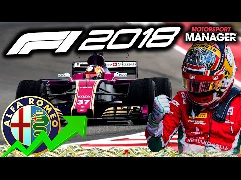 F1 2018 Alfa Romeo Manager Career: NEW ENGINE! GREAT RACE FOR LECLERC- Part 9