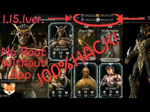 How to Hack mortal Kombat X 1 15 1 for Android/ios no root needed