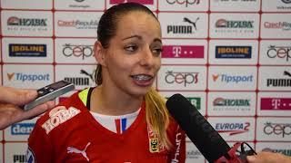 Veronika Enenkelová po utkání Česko - Švýcarsko