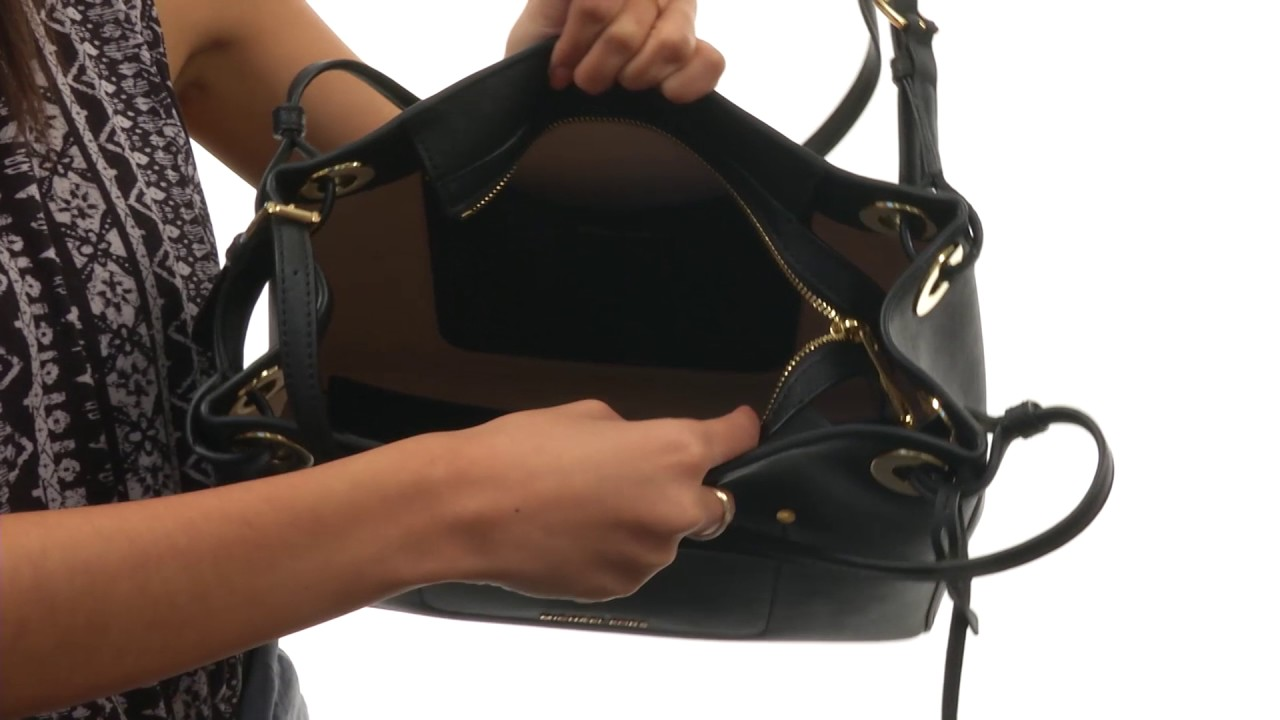 9a3afb148d41 MICHAEL Michael Kors Walsh Medium Shoulder Tote SKU 8902983 - YouTube