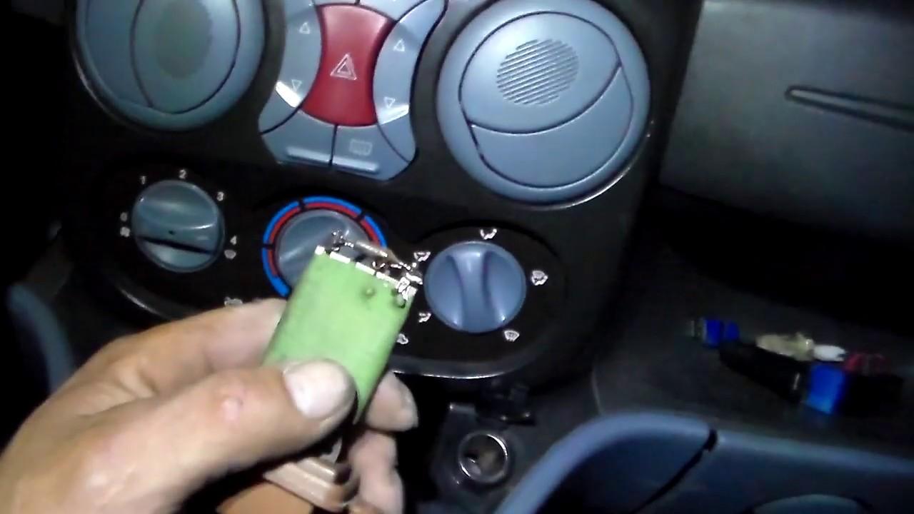 Ремонт регулятора оборотов отопителя салона  FIAT DOBLO  (223)