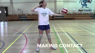 How To Serve Basic Overhand Serve-Volleyball