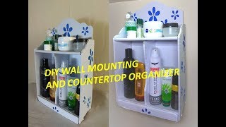 DIY Multipurpose Organizer \\ 2 Layer organizer \\ Bathroom Organizer \\ Wall mounting Organizer