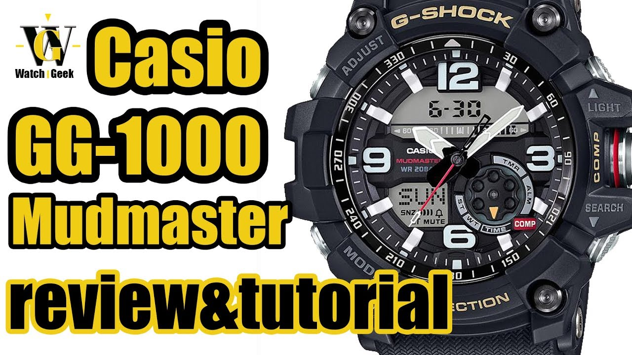 casio g shock mudmaster manual