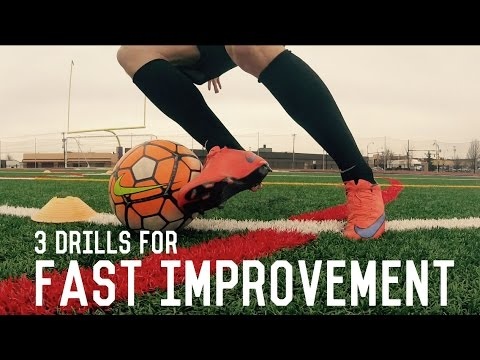 Top Three FootballSoccer Drills For Fast Improvement  Individual Training For Soccer Players