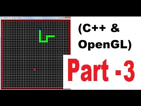OpenGL & C++ game programming ( snake game) tutorial ( 2D ) | PART 3 |  Drawing a grid