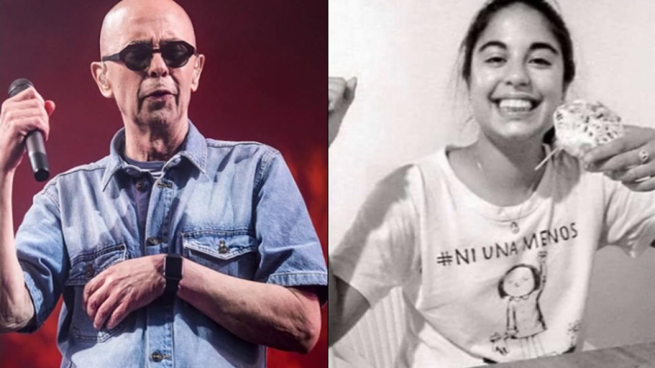 """Indio Solari despidió a Micaela cantando """"Juguetes perdidos"""" - YouTube"""