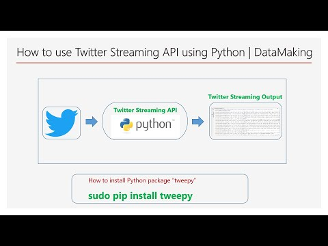 How To Use Twitter Streaming API Using Python   Hands-On   Part 5   DM   DataMaking   Data Making