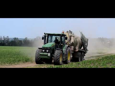 Agroservis Višňové - Slurry application 2019 - John Deere 8295R & John Deere 7920