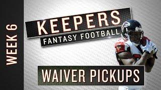 Nfl week 6 fantasy football waiver wiretargets