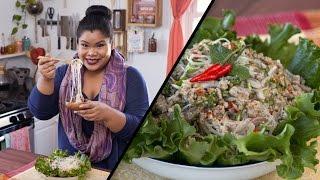 Thai Pork Glass Noodle Salad  Jen Phanomrat