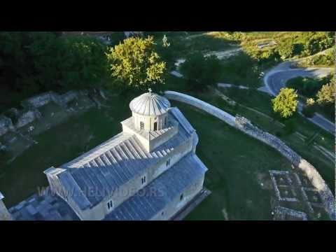 Manastir Sopoćani snimci iz helikoptera