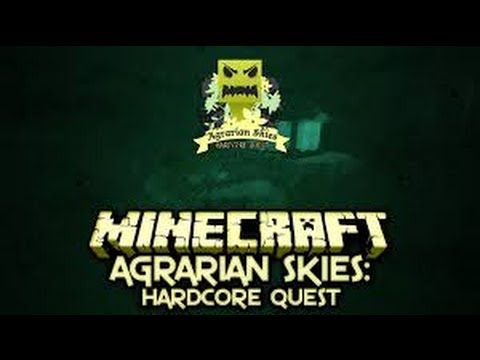 Agrarian Skies Hardcore Skyblock #10 - Auto Cobble Generator