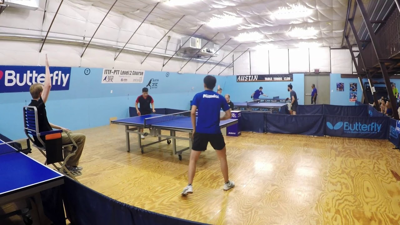 2017 Texas State Table Tennis Championships Men S Finals Yahao Zhang Vs Zixiang Meng