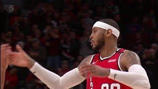 Carmelo Anthony Drains the DAGGER - Pistons vs Blazers   February 23, 2020