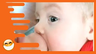 Funny Baby Reaction to Parent Kisses   Cute Baby Videos