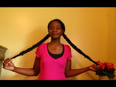 Natural Hair:  Banding For Stretched Hair & Protective Style
