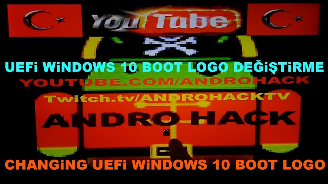Uefi windows 10 Boot logosunu değiştirme - How to change uefi windows 10  boot logo