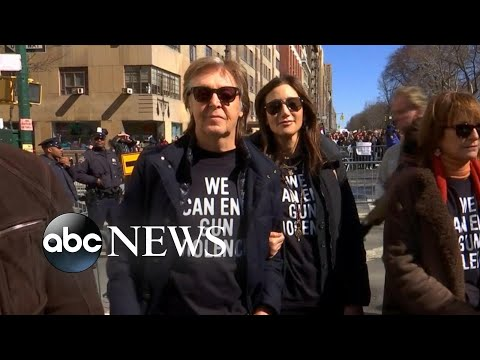 Celebs around the country came out for March for Our Lives