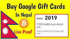 How To Buy Google Play Gift Card 2019 In Nepal With Bitcoin ( Live Proof )