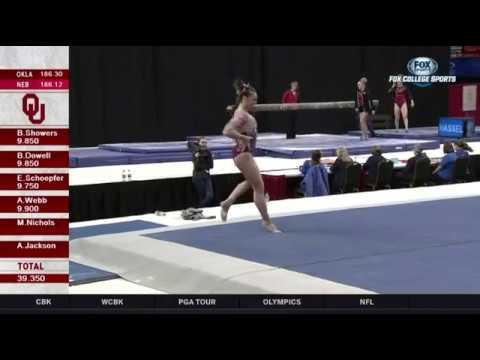 Maggie Nichols (Oklahoma) 2018 Floor vs Nebraska 9.95